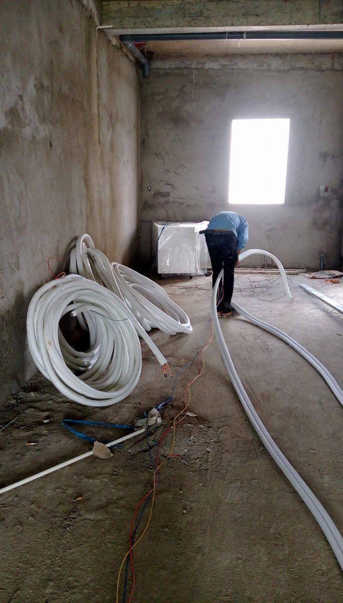 Lắp đặt ống đồng máy lạnh Thái Lan âm tường giá cạnh tranh