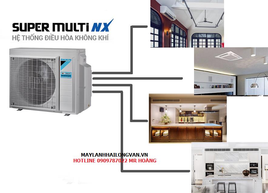 Tổng hợp thông tin về dòng máy lạnh Multi Daikin giá rẻ-Máy lạnh 1 dàn nóng nhiều dàn lạnh